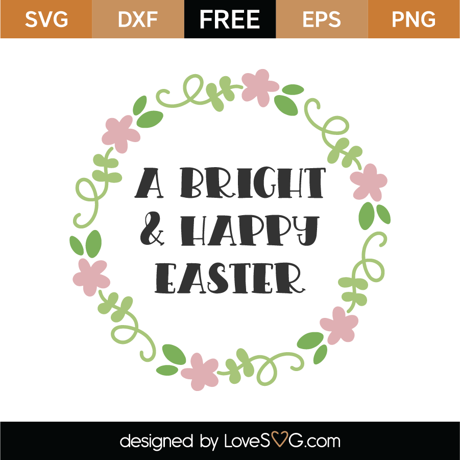 Happy Easter SVG Cut File
