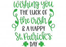 Happy St Patrick's Day SVG Cut File 10639