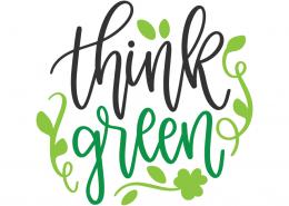 Think Green SVG Cut File