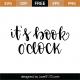 It's Book O'Clock SVG Cut File