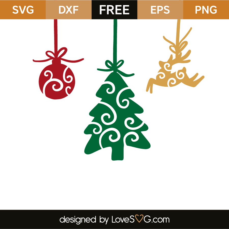 Christmas Ornaments Lovesvg Com