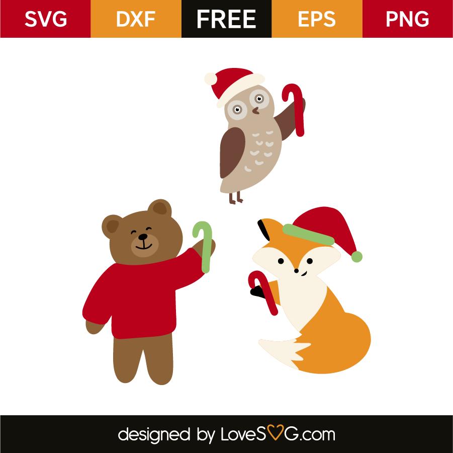 Christmas Animals Lovesvg Com