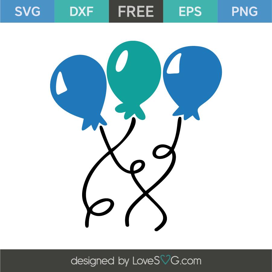 Birthday Balloons Lovesvg Com