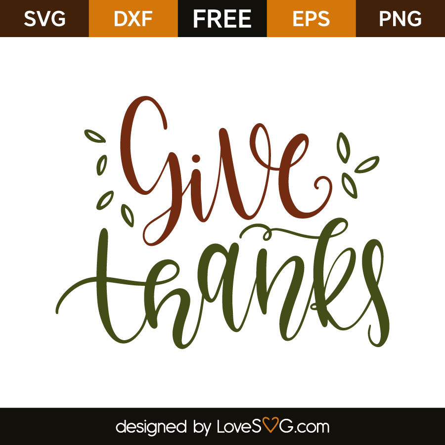 Give Thanks Lovesvg Com
