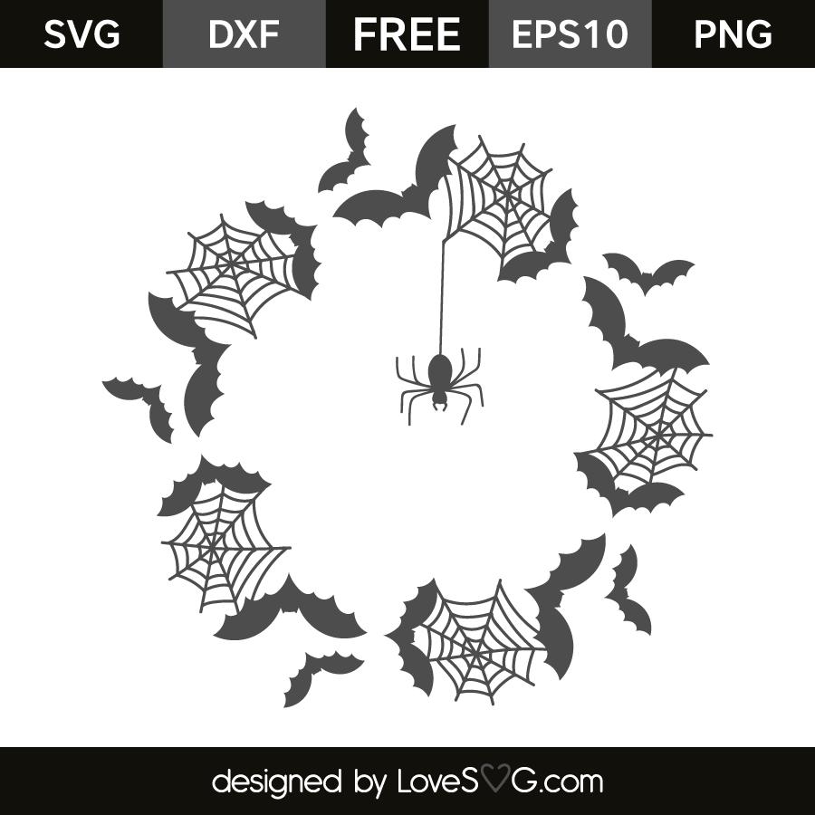 Download Halloween Monogram Frames Files SVG