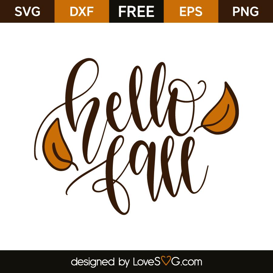 Hello Fall Lovesvg Com