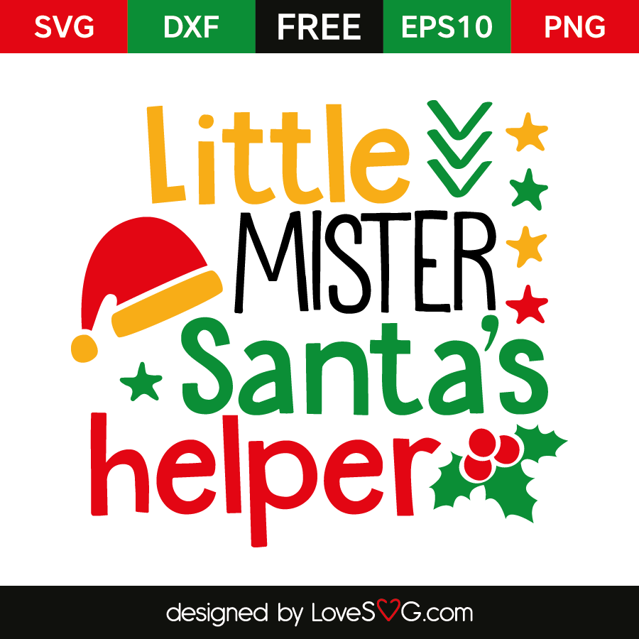 Little Mister Santa S Helper Lovesvg Com