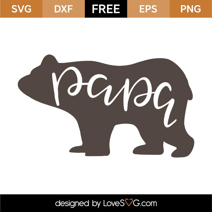 Papa Bear Lovesvg Com