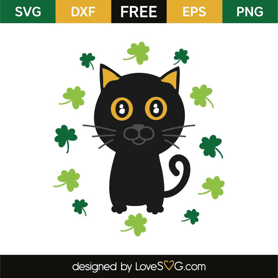 Saint Patrick S Cat Lovesvg Com