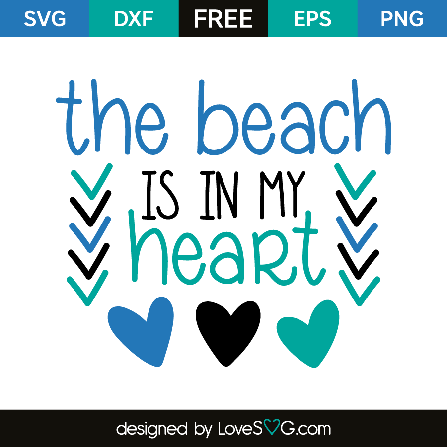 The Beach Is In My Heart Lovesvg Com