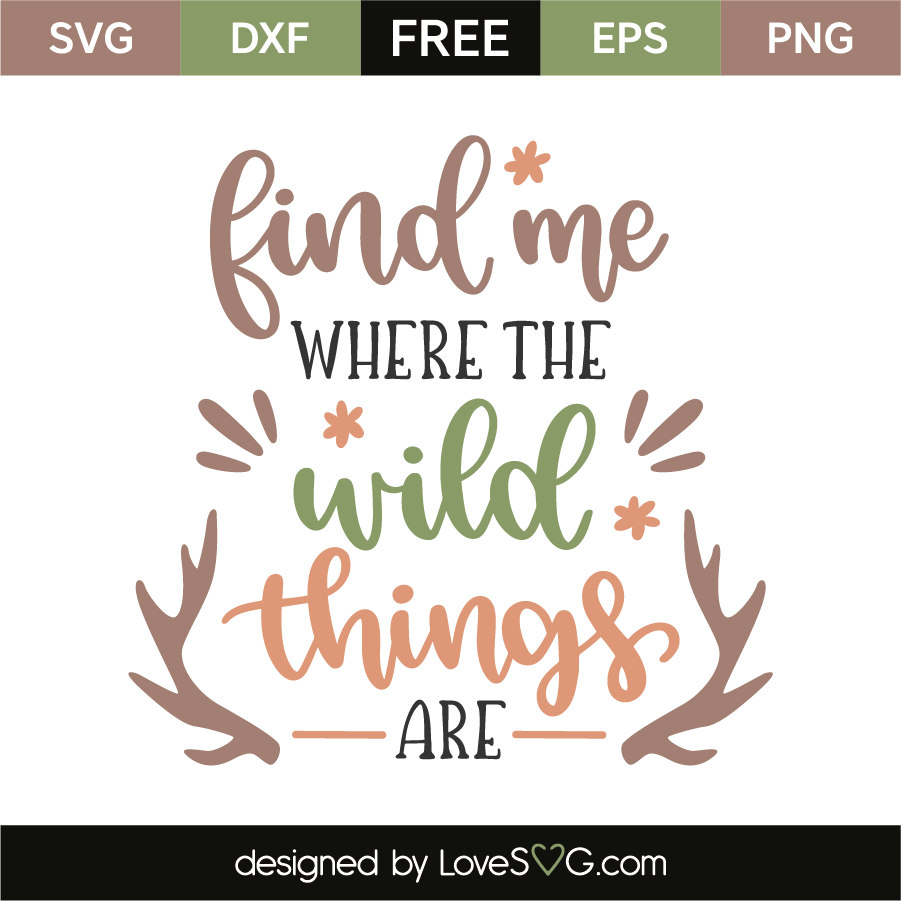 Find Me Where The Wild Things Are Lovesvg Com