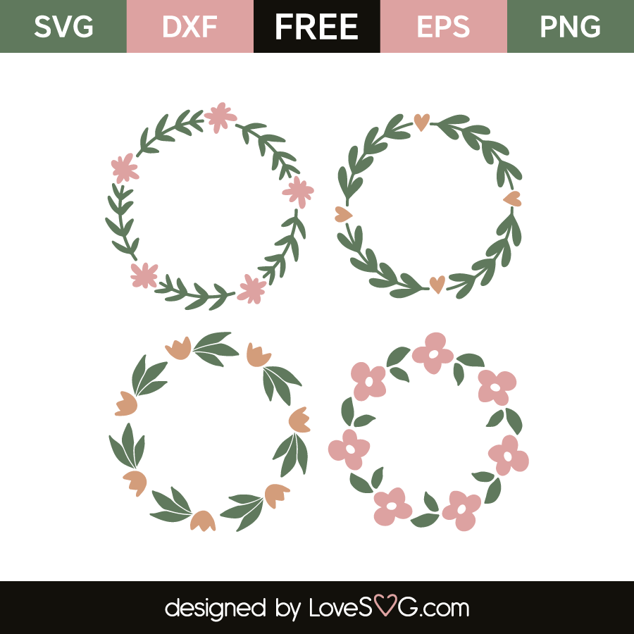 Floral Monogram Frames Lovesvg Com