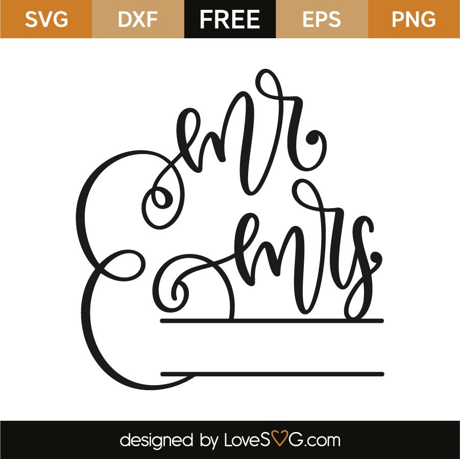 Download Mr & Mrs Split Frame - Lovesvg.com