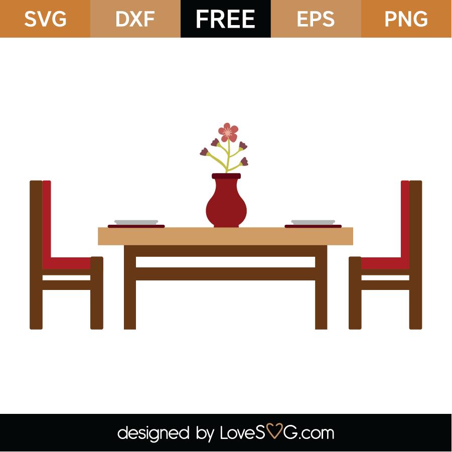 Download Free Kitchen Table SVG Cut File - Lovesvg.com
