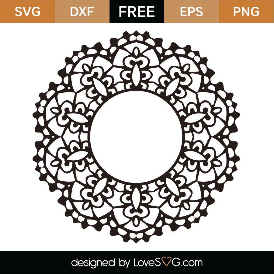Free Mandala Monogram Svg Cut File Lovesvg Com