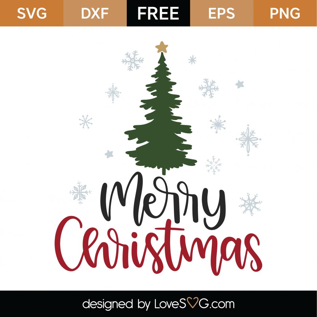 Download Free Merry Christmas SVG Cut File - Lovesvg.com