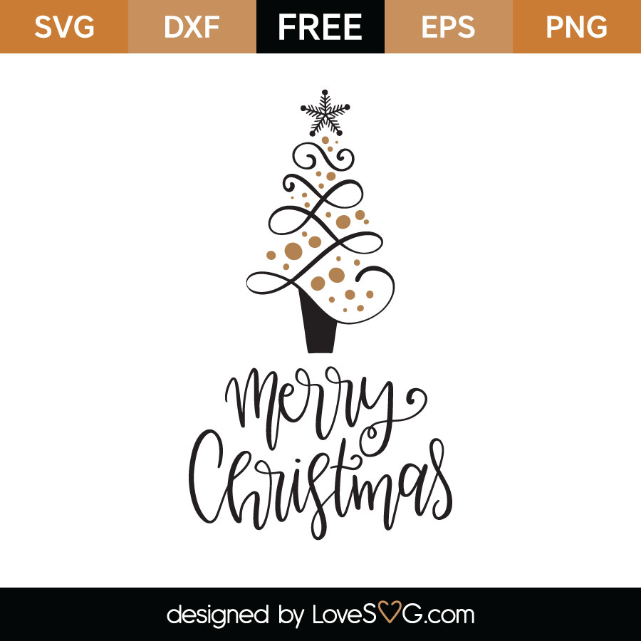 Download Merry Christmas SVG Cut File - Lovesvg.com