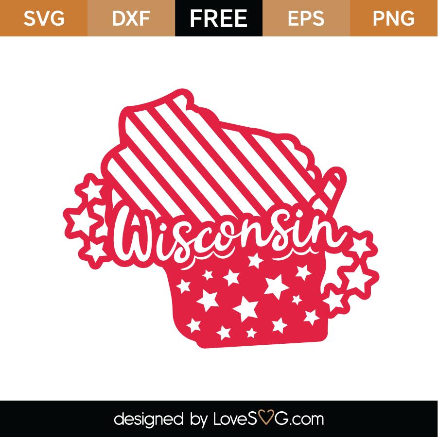 Download Free Wisconsin SVG Cut File - Lovesvg.com