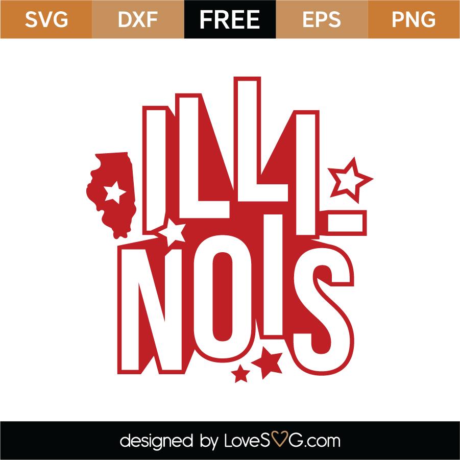 Download Free Illinois SVG Cut File - Lovesvg.com