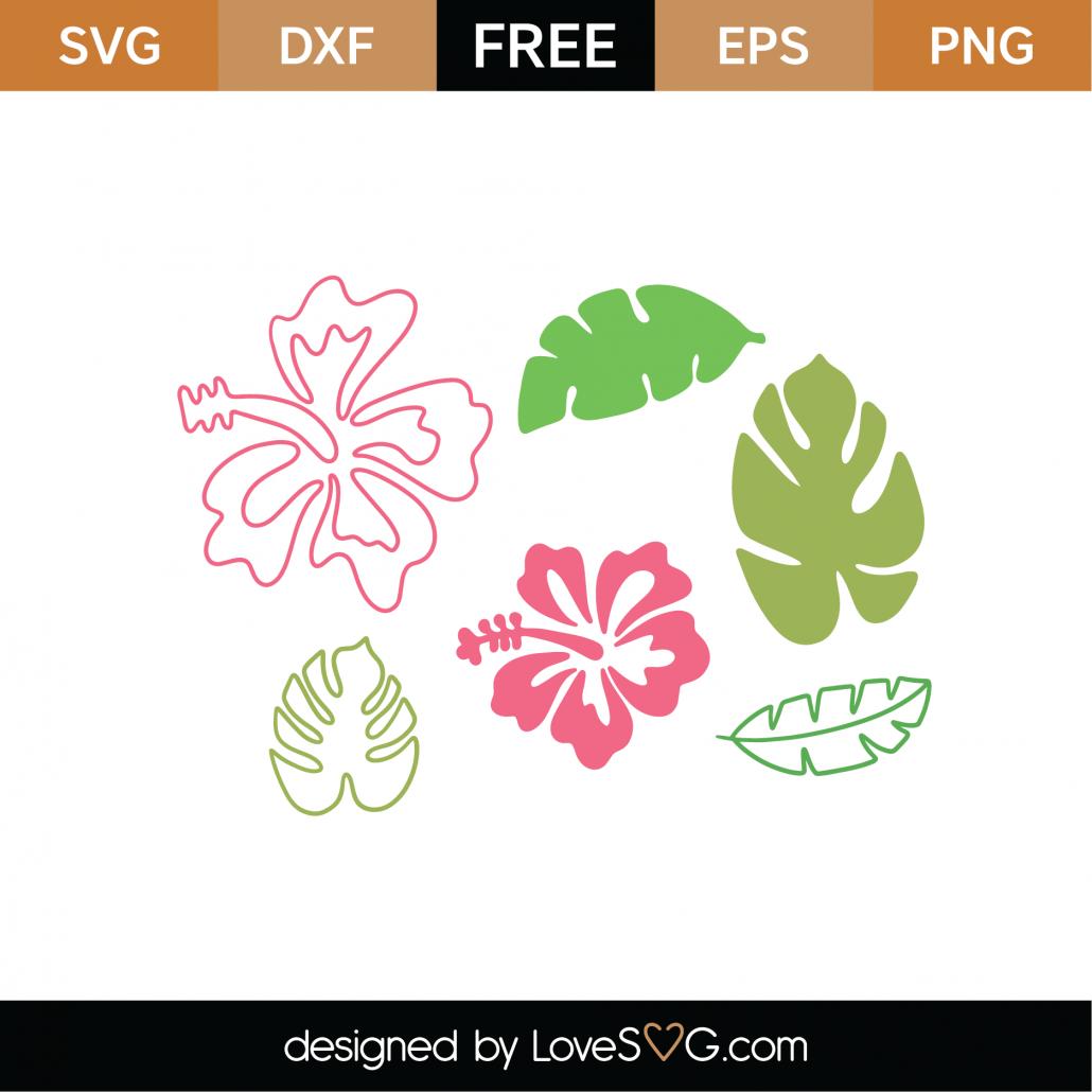 Free Tropical Flowers Svg Cut File Lovesvg Com