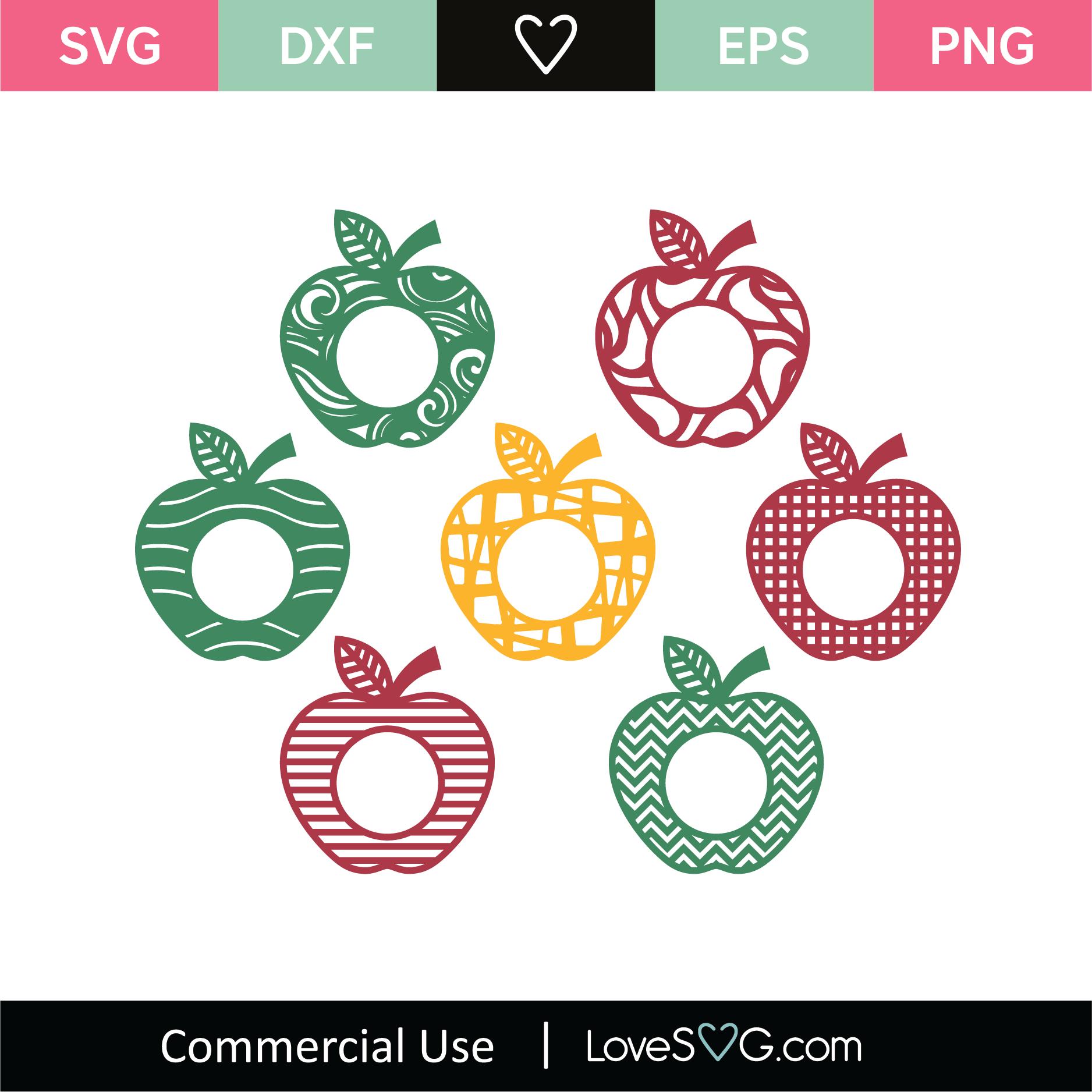 Apple Monogram Frames Lovesvg Com