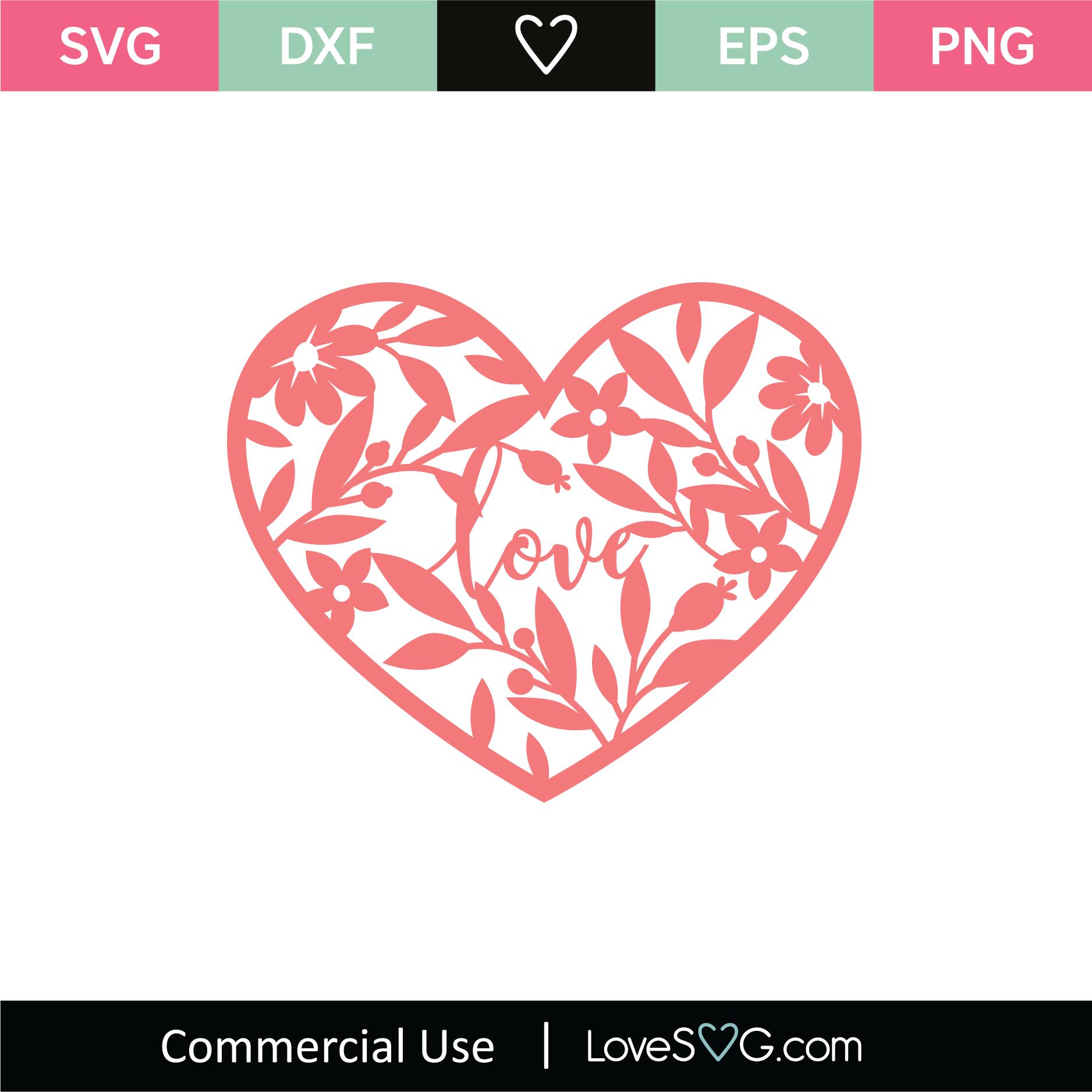 Love Heart Mandala SVG Cut File - Lovesvg.com