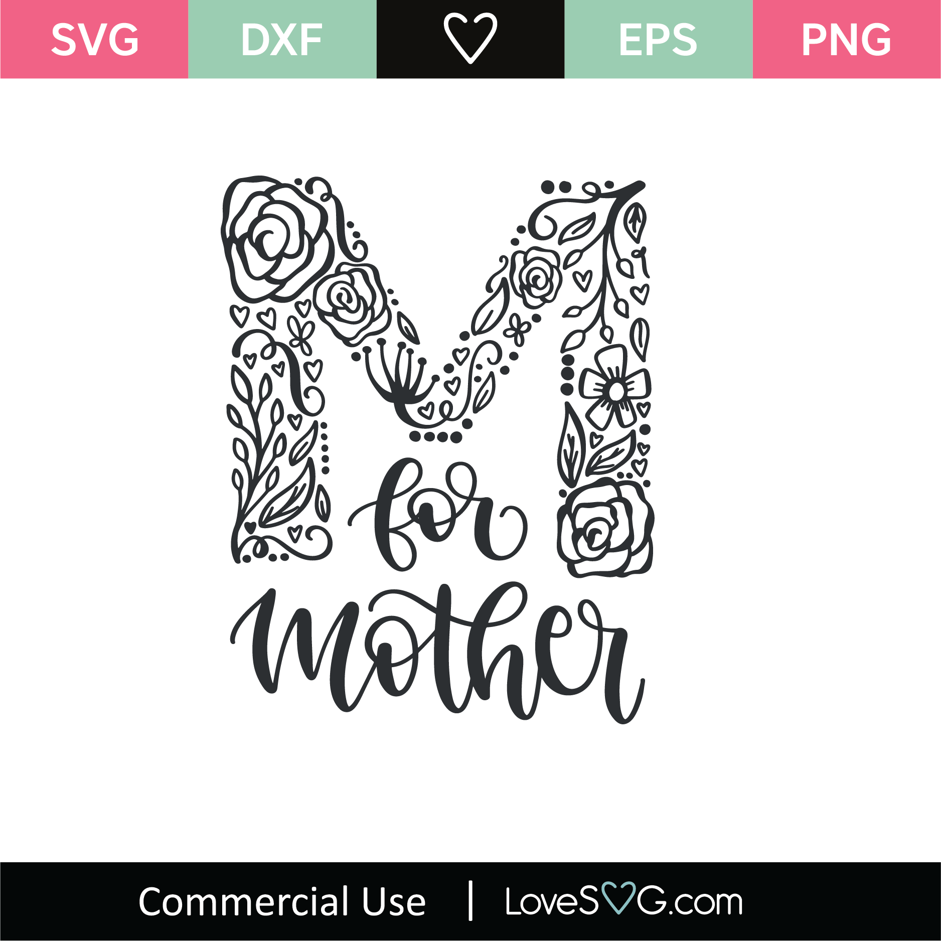 View My First Mother's Day Svg, Dxf, Eps, Png Design Image