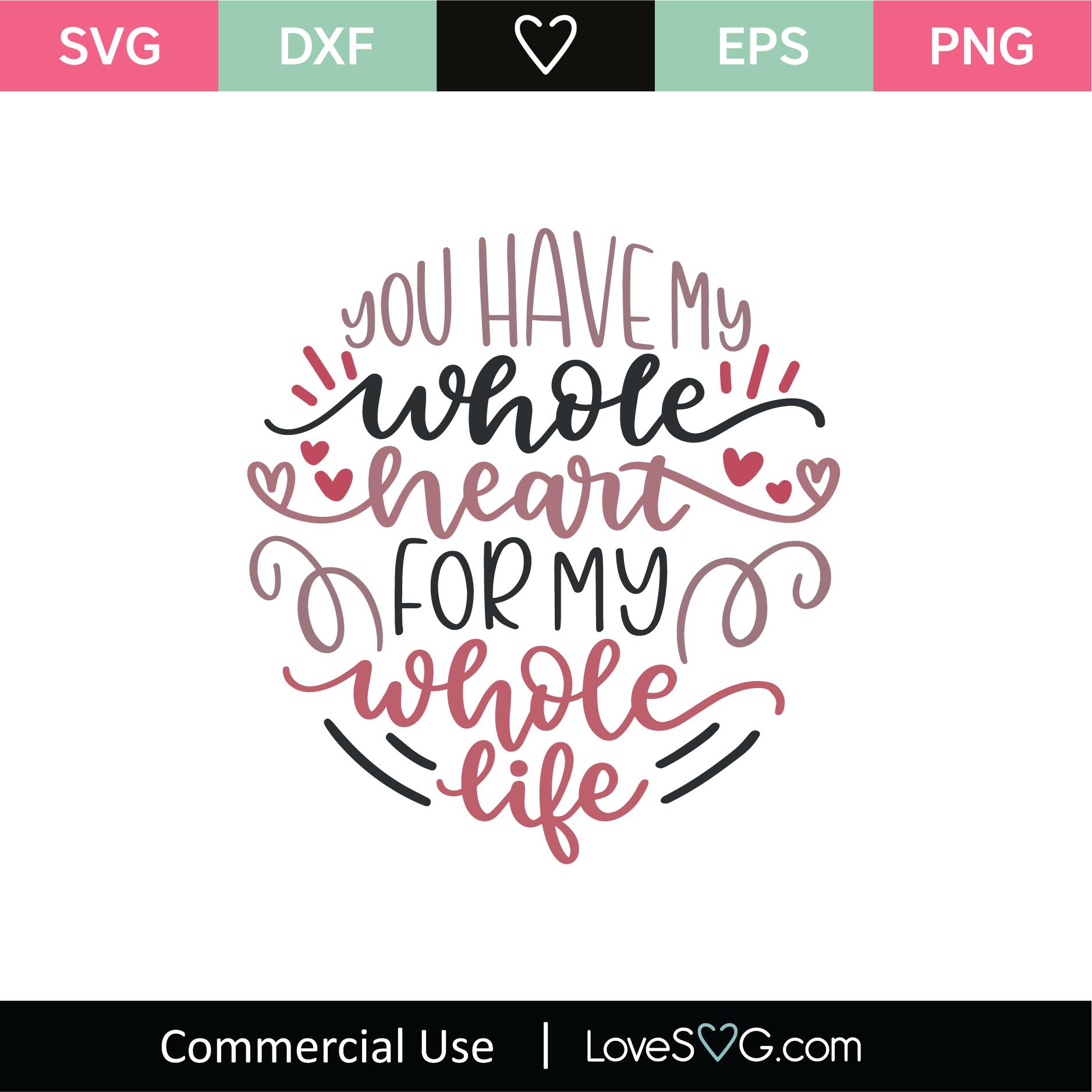 You Have My Whole Heart Svg Cut File Lovesvg Com