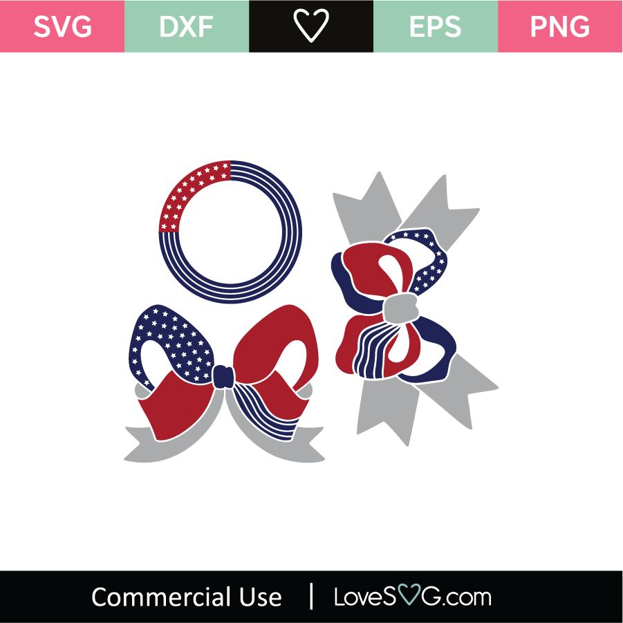 4th Of July Bows And Monogram Frames Svg Cut File Lovesvg Com