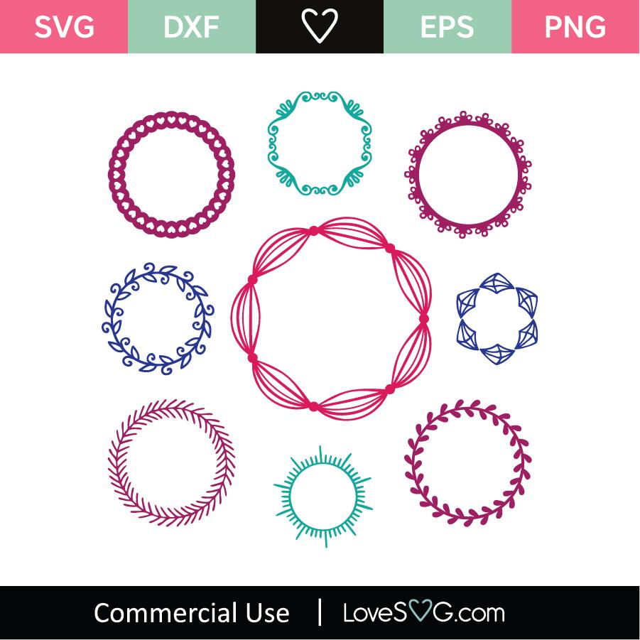 9 Monogram Frames Svg Cut File Lovesvg Com