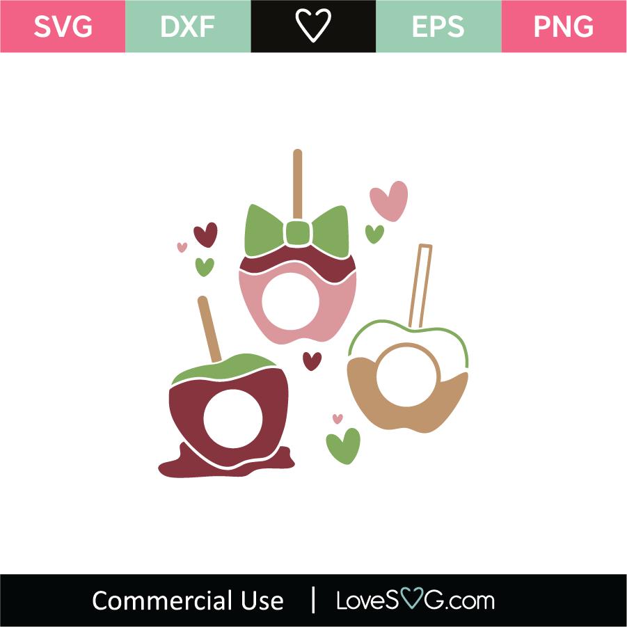Candy Apples Monogram Frames Svg Cut File Lovesvg Com