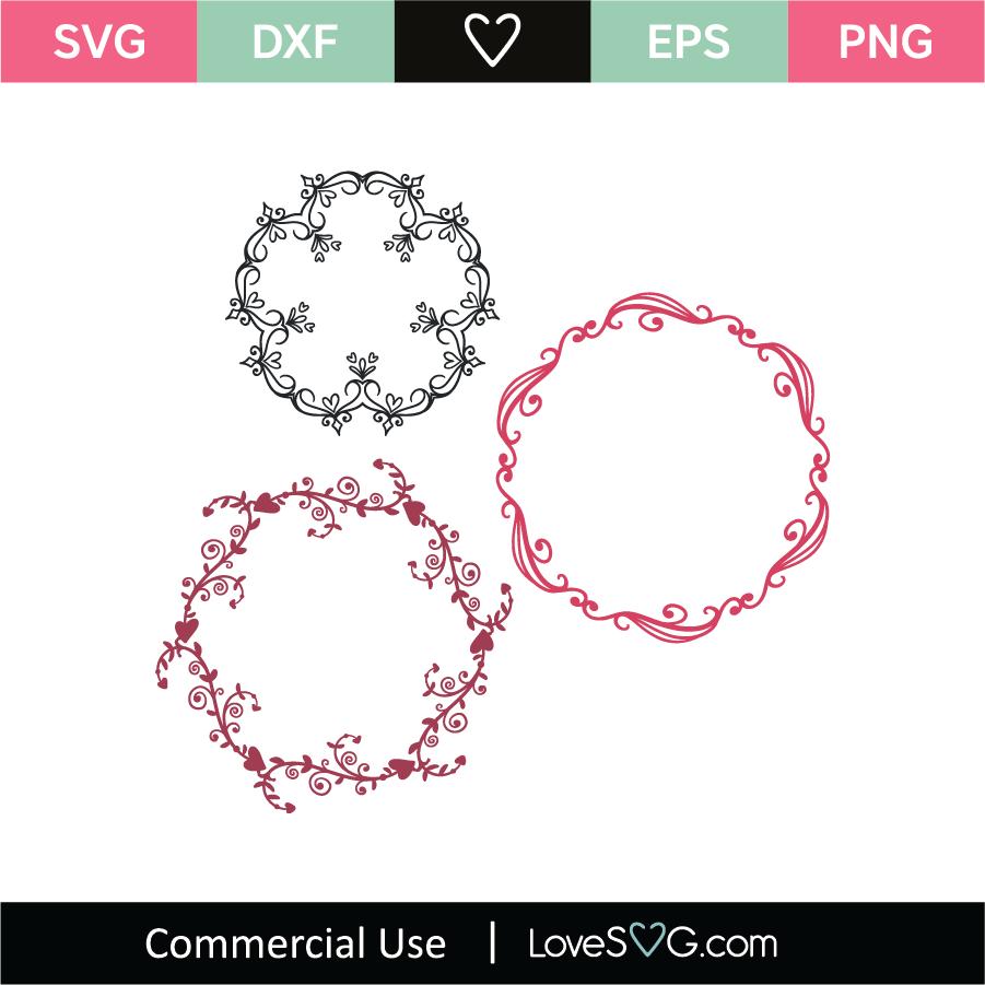 Download Love Monogram Frames SVG Cut File - Lovesvg.com