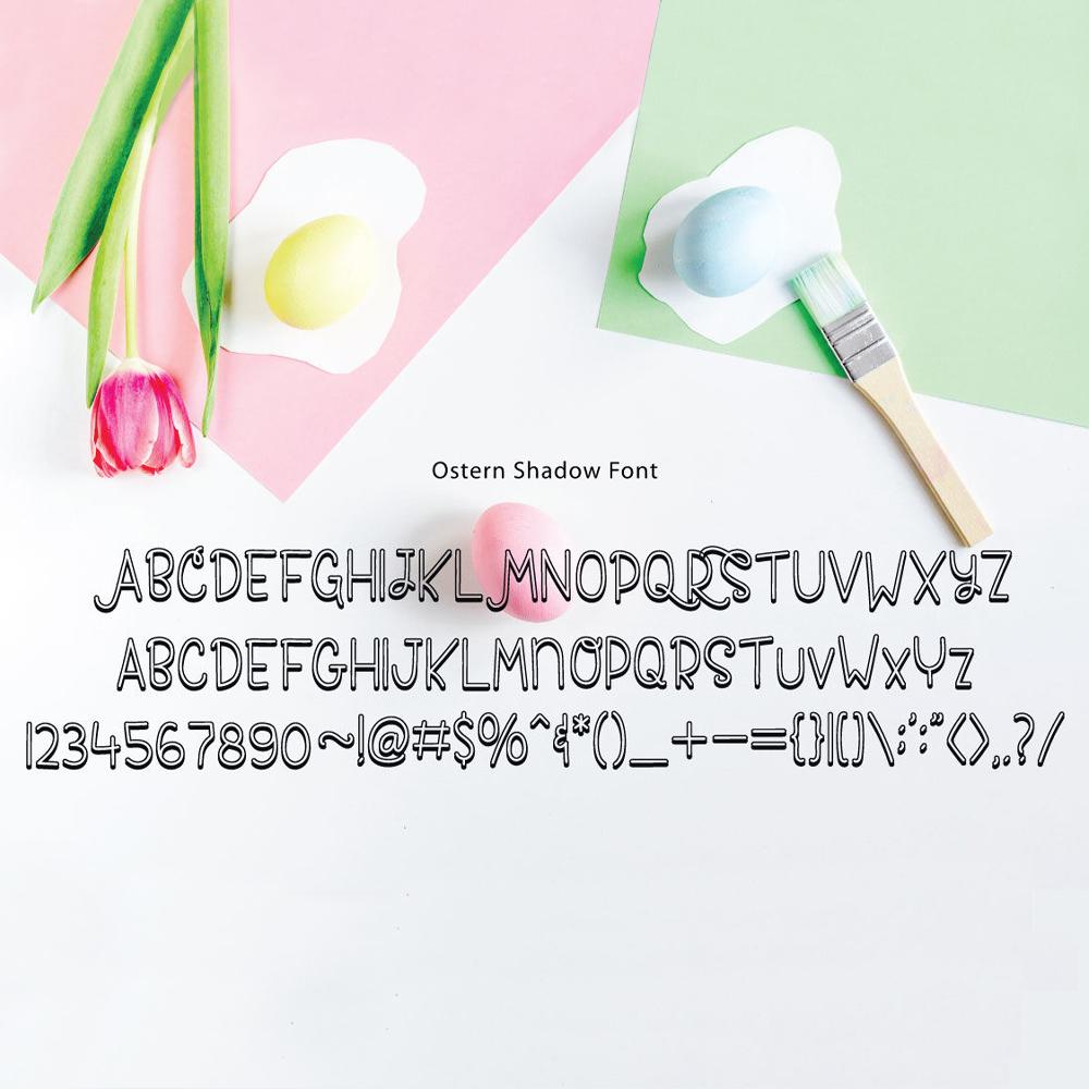 ostern font  lovesvg