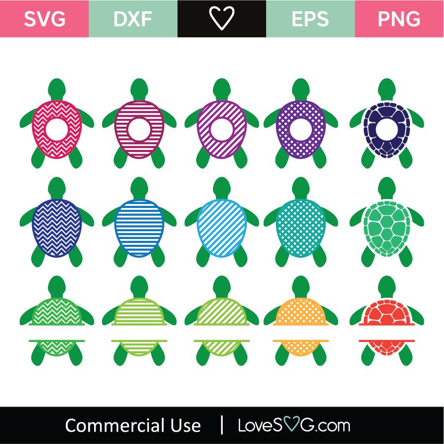 Download Sea Turtle Monogram Frames SVG Cut File - Lovesvg.com