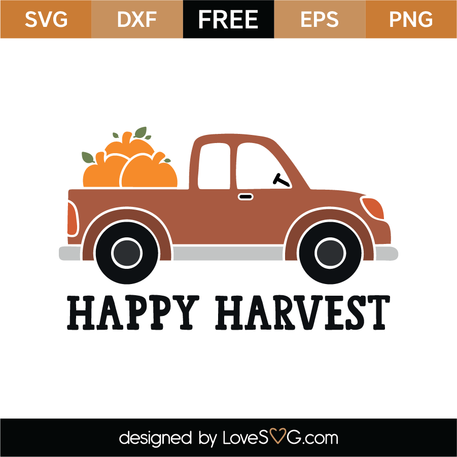 View Happy Harvest Cut File Svg, Dxf, Png Design