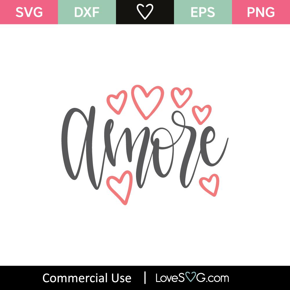 Download Amore SVG Cut File - Lovesvg.com
